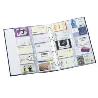 Prospekthüllen A4 für Visitenkarten, je bis zu 20 Karten, PP, glasklar, 10 Stück