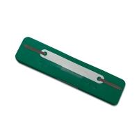 Heftstreifen, kurz, PP, Kunststoffdeckleiste, dunkelgrün, 25 Stück