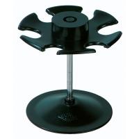 Stempelträger Wedo 64601, für 6 Stempel, runde Ausführung, schwarz