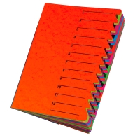 Ordnungsmappe Pagna 24131, 12 Fächer, mit Gummizug, rot