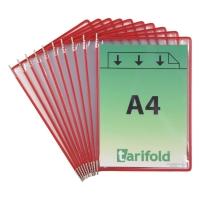 Drehzapfentafel Tarifold Technic 114003, A4, rot, 10 Stück