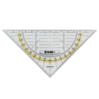 Geodreieck Kum 262 Flex, Hypotenusenlänge: 160mm, transparent