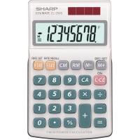 Taschenrechner Sharp EL-250S, 8stellig, Solar-/Batteriebetrieb, grau