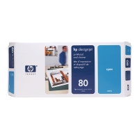 Druckkopf + Reiniger HP C4821A - 80, Inhalt: 17ml, cyan