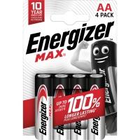 Batterie Energizer E300112500, Mignon, LR06/AA, 1,5 Volt, MAX, 4 Stück