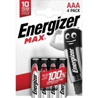 Batterie Energizer E300124200, Micro, LR03/AAA, 1,5 Volt, MAX, 4 Stück