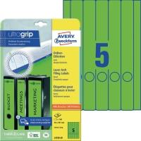 Ordner-Etiketten Avery Zweckform L4750, lang / schmal, grün, 20 Blatt/100 Stück
