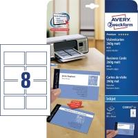 Premium Visitenkarten Avery Zweckform C32015-25, 85x54mm, 260g, satiniert, 200St