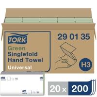 Falthandtuch Tork Universal 290135, 1-lagig, Krepp, 20 Bündel a 200 Tücher