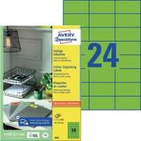 Etiketten Avery Zweckform 3450,  (LxB)70 x 37mm, grün, 100Bl/2.400 Stück