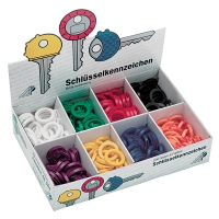 Schlüsselkennringe Wedo 2628008, 24mm, in 8 Farben sortiert, 200 Stück