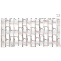 Plakatkalender 2018 Bühner PO14, 14 Monate / 1 Seite, 139 x 79cm, inkl. Pieker