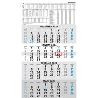 Viermonatskalender 2018 Zettler 959, 4 Monate / 1 Seite, 330 x 650mm