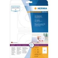 CD/DVD-Etiketten Herma 5079, Ø 116mm, blickdicht, weiß, 50 Stück