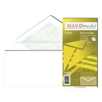 Briefumschläge Blessof 221500, DIN lang, o.Fenster, NK, 80g, Futter, weiß, 25St