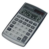 Taschenrechner Citizen CPC112, 12stellig, Solar-/Batteriebetrieb, silber