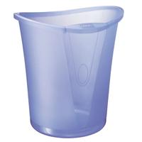 Papierkorb Leitz 5204, Fassungsvermögen: 18 Liter, transparentblau