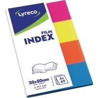 Film-Index Lyreco 19 x 43mm transluzent farbig sortiert 160 Streifen