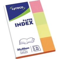 Papier-Index Lyreco 20 x 38mm farbig sortiert 160 Streifen