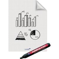 Folienrolle Legamaster Magic Chart 159000, elektrostatisch haftend kariert, 25Bl