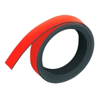 Magnetband Franken M802, Maße: 10mm x 1m, rot