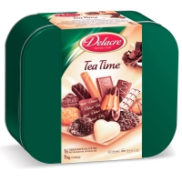 Gebäckmischung Delacre 927640 Tea Time, Dose mit 2 x 500g