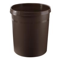 Papierkorb HAN Grip 18190, Fassungsvermögen: 18 Liter, braun