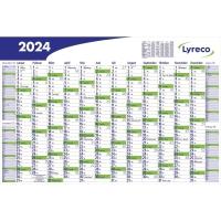 Plakatkalender 2018 Lyreco, 16 Monate / 1 Seite, 102 x 68,5cm