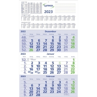 Dreimonatskalender 2018 Lyreco, 3 Monate / 1 Seite, 29,5x52cm