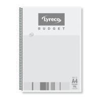 Spiralblock Lyreco Budget A4 kariert 60g/qm ungelocht 80 Blatt