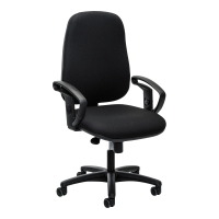 Bürostuhl Basic J962, hohe Rückenlehne, schwarz