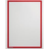 Infotasche Franken ITSA4M01, A4, magnethaftend, rot