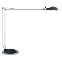 Tischleuchte Maul 82250-95 Business mit einer 50 Watt Halogen Leuchte silber