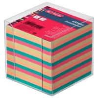 Notizzettel-Box Herlitz 01600147, mit 700 Blatt bunt, Maße: 9x9cm, transparent