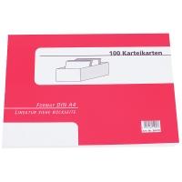 Karteikarten A4, blanko, weiß, 100 Stück