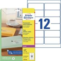 Adress-Etiketten Zweckform L4772, 99,1 x 42,3mm, transparent, 25 Blatt/300 Stück