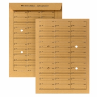 Hausposttasche, B4, ungummiert, mit Tabellendruck, 120g, Natron braun, 250 Stück