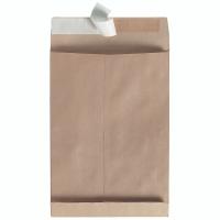 Faltentaschen Bong 8140008, B4, 40mm-Falte, ohne Fenster, HK, braun 100 Stück