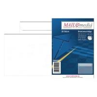 Briefumschläge C6, ohne Fenster, Selbstklebung, 75g, weiß, 25 Stück