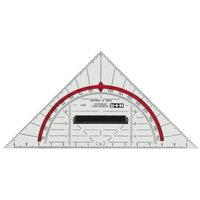 Geodreieck M+R 23180000, Hypotenusenlänge: 160mm, mit Griff, transparent