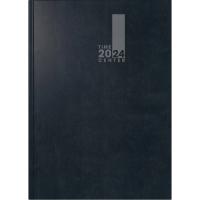 Buchkalender 2018 Brunnen 72920 Timecenter, 1 Woche / 2 Seiten, A5, schwarz