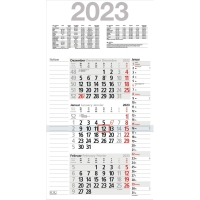 Dreimonatskalender 2018 Bühner M3KPN, 3 Monate / 1 Seite, 30x56cm