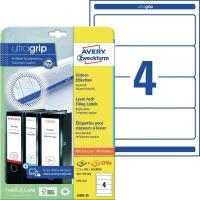 Ordner-Etiketten Avery Zweckform L6061, kurz / breit, weiß, 25 Blatt/100 Stück
