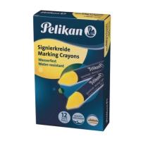 Signierkreide Pelikan 762, gelb, 12 Stück