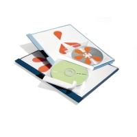 CD/DVD-Hülle Durable 5210, für 1 CD/DVD, selbstklebend, transparent, 10 Stück
