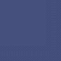 Servietten Duni 154493, Maße: 33 x 33cm, 3lagig, blau, 50 Stück