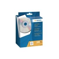 CD/DVD-Hülle Herma 1140, aus Papier mit Klarsichtfenster + Klebepunkt, 100 Stück