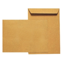 Versandtaschen C4, ohne Fenster, Nassklebung, 90g, braun, 25 Stück