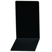Buchstütze Alco 4301, Maße: 140 x 85 x 140mm, Metall, schwarz, 2 Stück