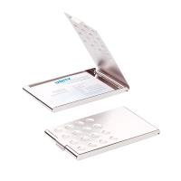 Visitenkartenbox Durable 244023, für 20 Karten, chrom